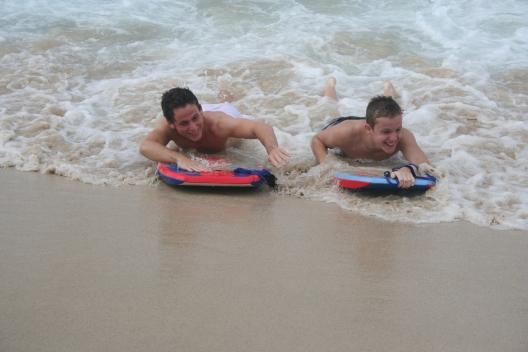 sand water boogie boarding hawaii