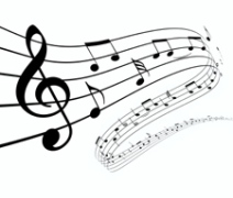 music musical notes black white